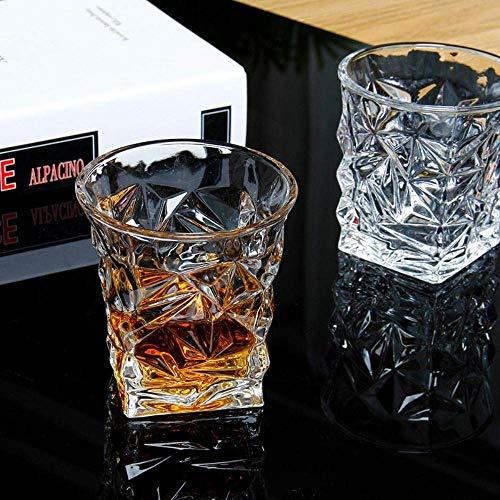 Gegraveerd klassieke whisky glas, prachtige huis transparant bier wodka glaswerk, bar gepersonaliseerde wijnglas, 301-400ml lili (Size : 301400ml)