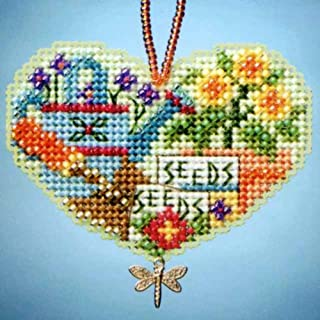 Love Gardening Beaded Counted Cross Stitch Charmed Ornaments Kit Mill Hill 2013 I Love MH163103