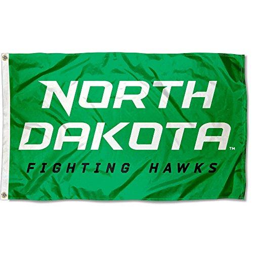 College Flags & Banners Co. North Dakota Fighting Hawks New Wordmark Flag