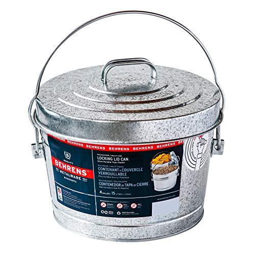 Behrens Manufacturing 6104 Galvanized Steel Locking Lid Can