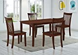 Kings Brand Furniture - Kurmer 5 Pcs Wood Kitchen Dining Table Set. Table & 4 Chairs, Cappuccino