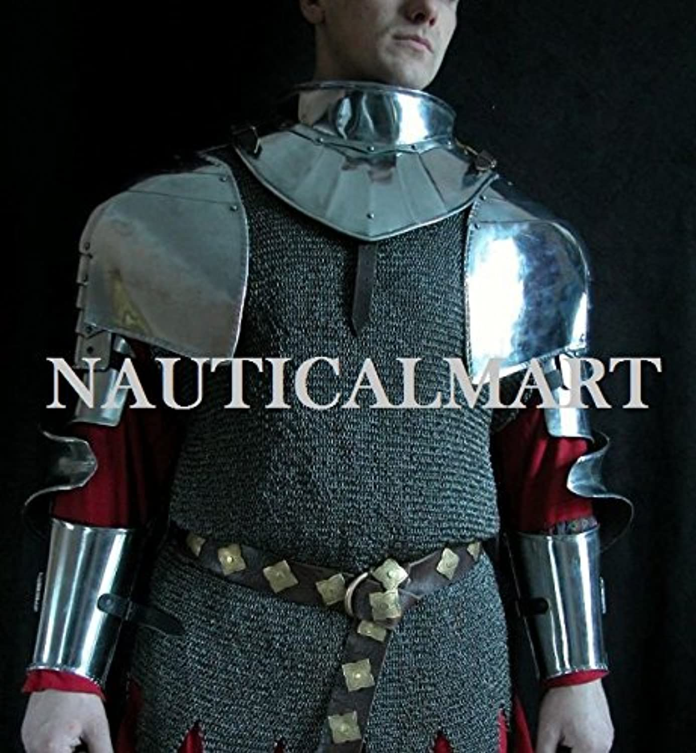 NAUTICALMART Medieval Knight Arm Armor Spaulders Pauldrons Set