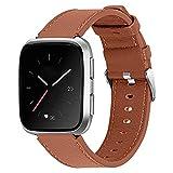 Compatible con Fitbit Versa/Versa2 Bands, pulsera de cuero para...