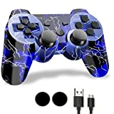 10. PS-3 Wireless Controller, Play-station 3 Controller, CFORWARD Wireless Bluetooth PS-3 Gamepad with Charger Cable and Thumb Grips for PS-3 Remote