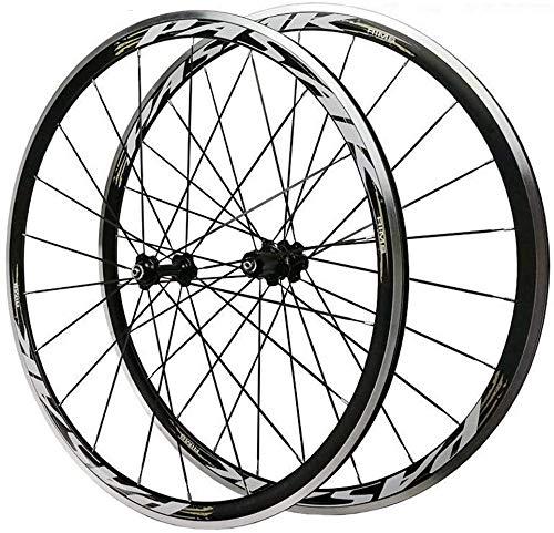 HJRD Rennrad Fahrrad Vorderrad Hinterrad 700C 30MM Bike Laufradsatz Doppelwandige Leichtmetall Felgen V Bremse Schnelle Veröffentlichung Palin Lager 8-12 Geschwindigkeit