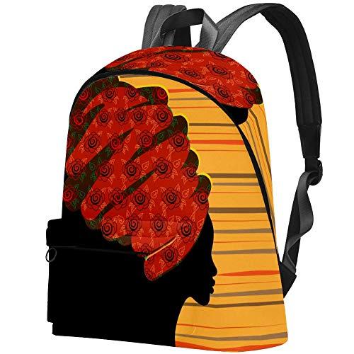 Schöne Afrikanerin Bag Teens Student Bookbag Leichte Umhängetaschen Reiserucksack Tägliche Rucksäcke