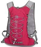 YJIUJIU - Mochila para bicicleta de 8 litros, impermeable, transpirable, para correr, senderismo, escalada, camping, esquí, maratoner, hombres y mujeres, color rojo