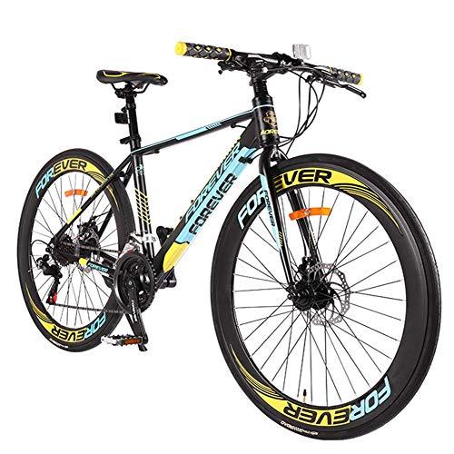 Xiaoyue Adult Rennrad, Scheibenbremsen Rennrad, 21 Geschwindigkeit Leichte Aluminium-Rennrad, Männer Frauen 700C Wheels Racing Fahrrad, Grün lalay (Color : Blue)