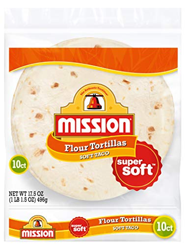 Mission Soft Taco Flour Tortillas, Trans Fat Free, Authentic, Medium Size, 10 Count