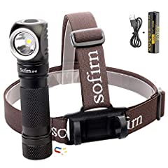 [Super Bright & TOUGH]: Sofirn SP40 is a powerful headlamp utilizesa cree XPL LED gives out 1200 Lumen at Turbo and 136m max beam distance, features 4 light modes. This headlamp is made of aerospace grade 6061 grade aluminum alloy andpassed 12 diff...