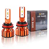 Alla Lighting Vision X-HL Xtreme Super Bright 10000 Lumens H8 H9 H11 LED Bulbs, Headlights(off-road use)/Fog Lights/DRL Replacement Bulbs Adjustable Beam, 6000K Xenon White