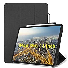 Exclusively designed for iPad Pro 11 Inch 2018 Release ONLY ( fits model: A1980 A2013 A1934 A1979). Please check model number on the back of ipad before purchase. [Apple Pencil Compatible]: With Apple Pencil Holder, and the open-side design supports ...