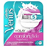 Gillette Venus ComfortGlide plus Olay Sugarberry Women's Razor Blade Refills, 4 Count
