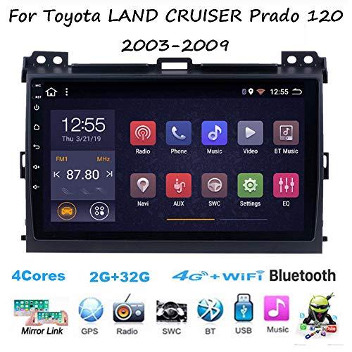 TypeBuilt Autoestereo Pantalla Táctil Capacitiva Autorradio para Toyota Land Cruiser Prado 120 2003-2009 GPS Navegación Cámara De Respaldo Estéreo De Coche Audio FM/Am/RDS Radio Video Player S