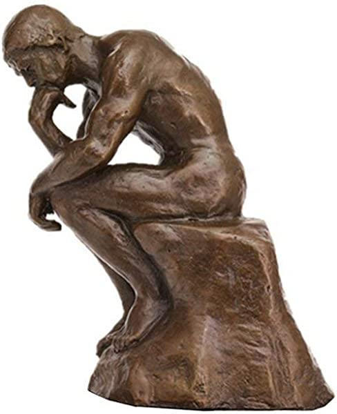Toperkin The Thinker Statues Bronze Sculptures Home Decor Figurines