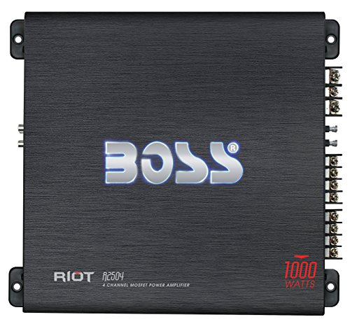 BOSS Audio Systems R1002 Car Amplifier - 2 Channel, 200 Watts Max Power, 2 4 Ohm Stable, Class AB, Full Range