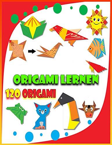 Origami Lernen - 120 ORIGAMI: Origami-Buch für Kinder und Erwachsene | Origami-Faltanleitungen Schritt für Schritt erklärt | (einfach erklärt)