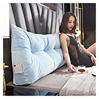 ベッドサイドバッククッション クッション ヘッドボードソフトバッグ 三角ダブルベッドルームソファ 畳ネットレッドクッション 枕大背もたれ AWSAD (Color : B, Size : 80x50x25m)