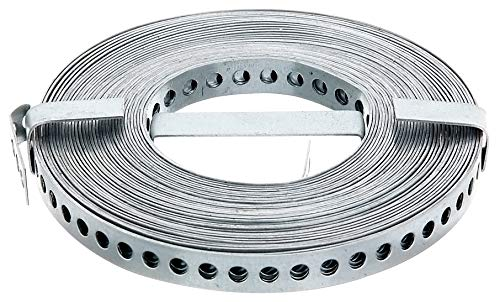 GAH-Alberts 334130 Lochband | mit oder ohne Abrollkasette | sendzimirverzinkt | Breite 12 mm | Länge 10 m