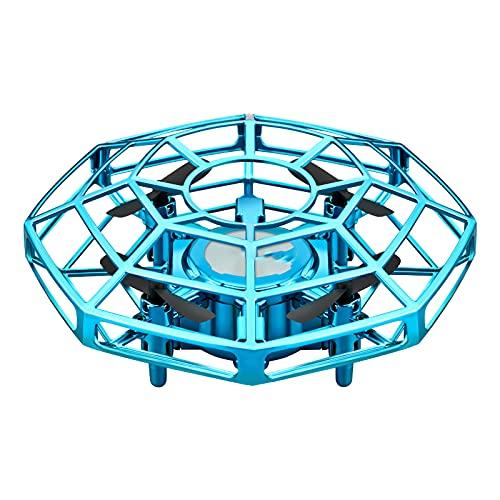 FDSGEWW Mini Smart Ostacolo Evitamento Telecomando Velivolo Rilevamento di Gesti Quadcopter Resistenza alla Caduta Sospeso 2.4G Modulo di Aggiornamento Batteria Giocattolo Blu