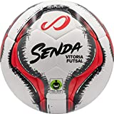 Image of SENDA Vitoria Match Futsal Ball, Fair Trade Certified, Red/Grey, Size 4 (Ages 13 & Up)