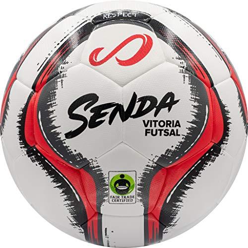 SENDA Vitoria Match-Futsalball für den Spieltag, Fair Trade Zertifiziert, Rot/Grau, Größe 4 (ab 13 Jahren) 4
