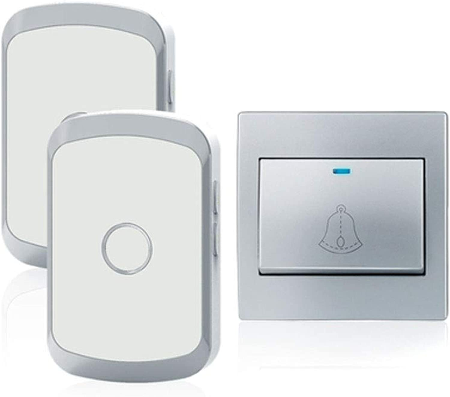 Doorbell, A Selfgenerated Electric Doorbell Without Battery, OnetoTwo Design (gold, Silver (color   Silver(one Drag Two))