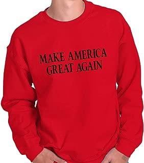 Brisco Brands Make America Great Again Election Trump USA Crewneck Sweatshirt