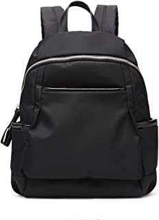 Xuan Yuan Backpack - Women's Fashion Simple Canvas Oxford Cloth Textile Backpack Leisure Light Travel School Bag Waterproof Large Capacity Can Accommodate 14-inch Computer Backpack (Color : Black)