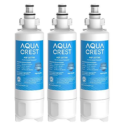 3 x AQUACREST 257760 Kühlschrank Wasserfilter, Kompatibel mit CNRAH-257760 125950 NR-B53V1 NR-B53V1-WB/X1D NR-BG53V2 NR-BG53VW2 NR-B53V2-XE NR-B54X1-WB/E EcoAqua EFF-6032B AH-PCN (3)