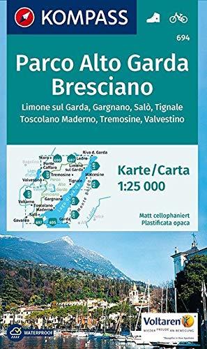 KOMPASS Wanderkarte Parco Alto Garda Bresciano: Wanderkarte mit Radrouten. GPS-genau. 1:25000 (KOMPASS-Wanderkarten, Band 694)