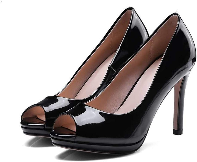 Women High Heels Sandanls Peep Toe Patent Leather Sexy Fashion Pumps Stiletto Dress Party Platform shoes