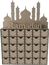 Usohiral Wooden MDF Eid Ramadan Mubarak Advent Calendar Muslim Islamic Decorations Ornament Gift