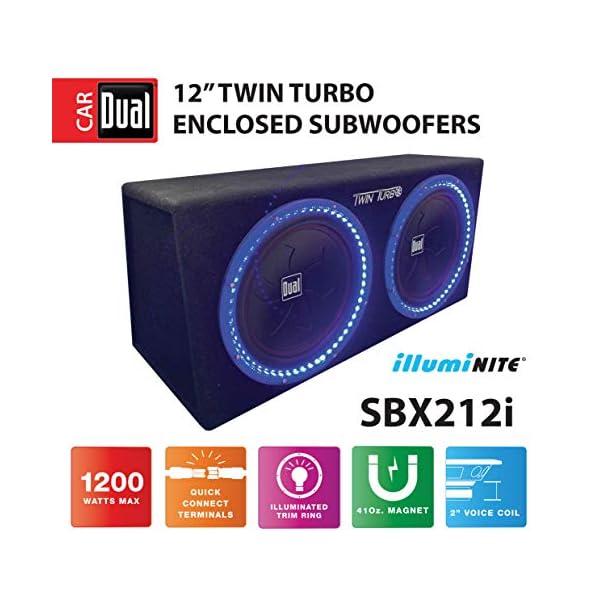Dual Electronics BP1204 12 inch illumiNITE High Performance Studio Enclosed Car Subwoofers...