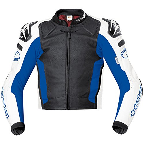 Held Safer Motorrad Lederjacke Schwarz/Blau 46