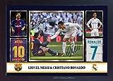 S&E DESING Lionel Messi Cristiano Ronaldo 2018 Autogramm