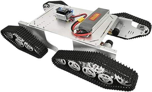 F Fityle T900 Roboter Panzerwagen Chassis Sto mpfung Für Arduino DIY Spielzeug - Silber