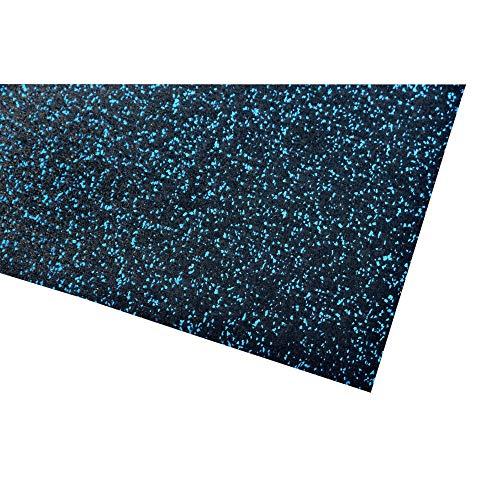acerto 40392 Colchoneta para aparatos de Fitness * Colchoneta 200x125cm (4mm) * Azul * Protección Robusta del Suelo * Antideslizante e insonorizante - Colchoneta de protección del Suelo