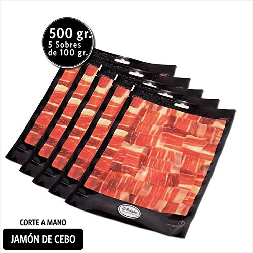 Loncheado Jamón Cebo - Pack Jamón Cebo Corte Mano 100G. X5