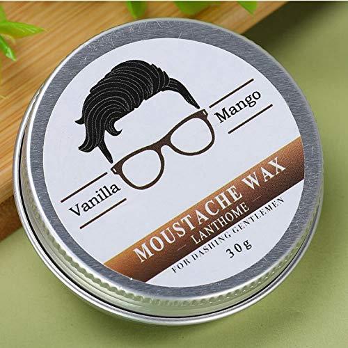 Uxsiya Cera hidratante de Bigote eficaz para el Cuidado del Afeitado y Peinado Suave de Barba de 30g para el hogar