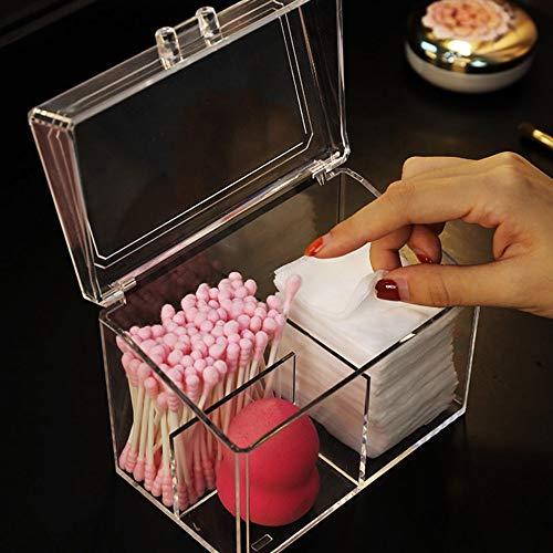 Drametree Boîte de rangement en acrylique for cosmétiques Un coton transparent for enlever les tampons de coton Une boîte de rangement
