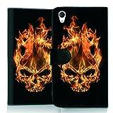 wicostar Wallet Book Style Flip Handy Tasche Hülle Schutz Hülle Schale Motiv Etui für LG L Bello 2 - Flip UMH13 Design12
