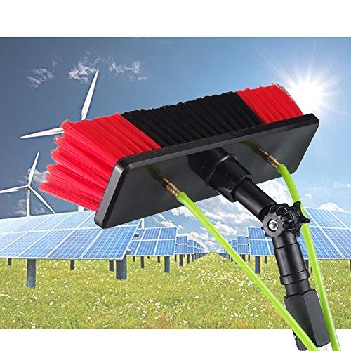 Limpieza de Paneles fotovoltaicos y solares Coches Caravana Camiones Camper y autobuses Lavado de Autos Cepillo de Agua,extensión de la varilla de lavado telescópica / 5m