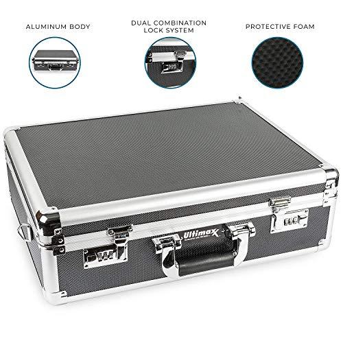 Ultimaxx�s Medium Aluminum Hard Case with Pre-Cut Foam�for Travel and Storage of Drones, Gear, and Equipment � for All DJI Mavic Models (Mavic Pro, Mini, Etc.), Autel EVO, Ryze Tech Tello, and More