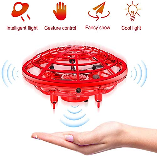 JILEIYMX Fidget Juguetes, Juguetes Voladores Spinner, Mano Controlada Aviones No Tripulados para Adultos De Los Niños Recargable Mini Aeronaves OVNI Drones Familiares Al Aire Libre,E