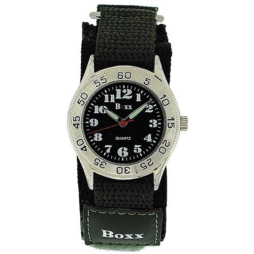 Boxx Green Army迷彩簡単Fasten Strap Childrens Boysスポーツウォッチ