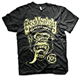 Gas Monkey Garage Oficialmente Licenciado Logo Camiseta para Hombre (Negro), Medium