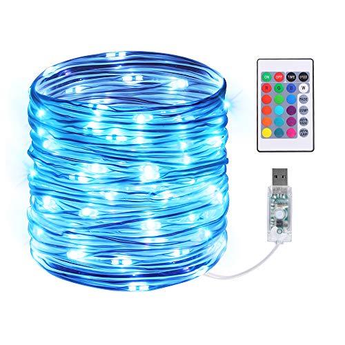 Led Schlauch, Infankey 10M 100 LED Lichterschlauch mit Fernbedienung &Timer, Led Lichterkette mit 16 Farben & 4 Modi, IP68 Wasserdicht, USB Lichtschlauch für Wohnzimmer, Deko, Party, Feier