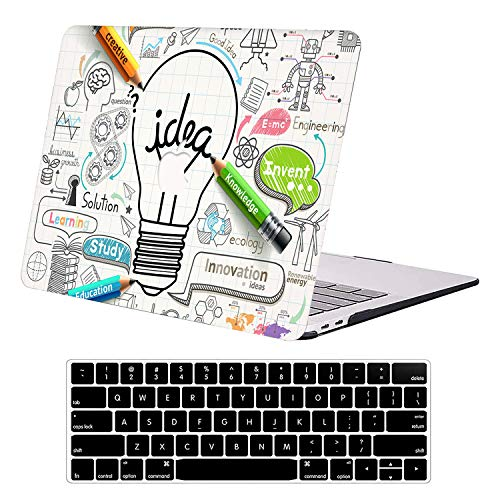 DTangLsm MacBook Pro 13 inch Case A1502 A1425 Older Version 2015 2014 2013 2012 Release, Laptop Plastic Hard Shell Case Sleeve&Keyboard Cover Compatible with Apple MacBook Pro Retina 13 inch,Bulb