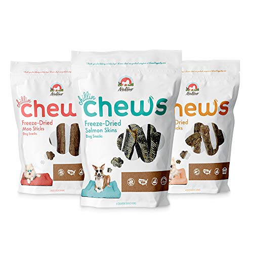 Nativo Naturals Chillin Chews for Dogs Training Treats Freeze Dried: Ethically Sourced Single Source Protein Gluten Free amp Grain Free Made in USA